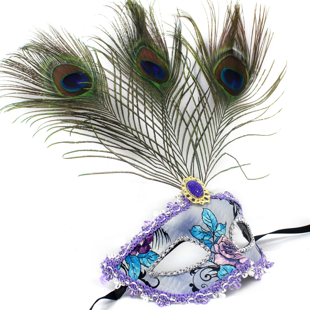 Hot Fashion Dance Costume Party Bar Peacock Feather Mask Venice Mask Masquerade Mardi Gras Carnival fun Activities Multicolor(China (Mainland))