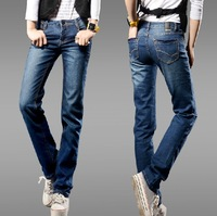 2014 spring new arrival women fashion plus size straight jeans Women free shipping