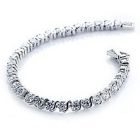 Free shipping 2013 new design 925 sterling silver & super shiny zircon female wedding bracelets jewelry