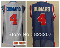 Free shipping Wholesale Hot High quality Embroidery logos Classics Pistons Throwback jerseys #4 Joe Dumars Basketball Jersey