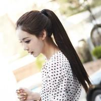 Wig horseshoers straight hair horseshoers claw clip horseshoers girls long ponytail tail wig