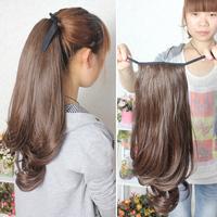 Long curly hair wig tafa tail wig big wave