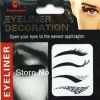 Free shipping temperary  eye liner tattoo sticker  26 packs per lot item EY 03