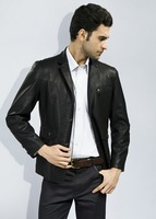 Free shipping! 2013 spring clothing men's genuine leather jacket, cultivate one's morality male new men's clothing / M-XXL