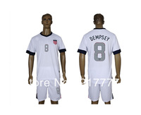 USA 2013 2014 8 Dempsey home Soccer Jerseys white S-XXL