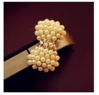 6pcs/lot 2014 hot Fashion mobile phone pendants wholesale sweet fresh pearl bow dust plug A4017
