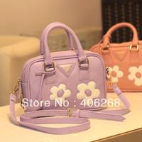 free shipping 2013 new good quality  elegent  flower shoulder bag sling bag  preppy style women's handbag stylish messenger bag