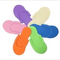 New Arrival Wholesale 200pcs/lot EVA Foam Salon Spa Disposable Pedicure thong Slippers skid resistance
