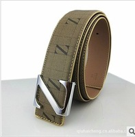 2013 spring summer new arrival hot selling  men belts fashion casual design letter Z genuine leather free shipping