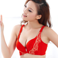 2013 Biofit Womens 3/4 Cup Embroidery Adjustment Straps Padded Push Up Lingerie Underwire Plunge Bra 34 36 B Free Shipping 5021