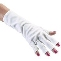 Free shipping & 2013 new 1 Pair Gloves Nail Art  prevent damage from UV Light/lamp Nail Dryer Expose