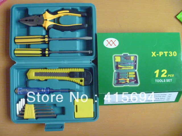 12 pcs Home set Toolbox Hardware Tools(China (Mainland))