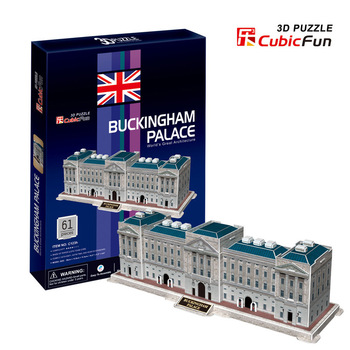 Buckingham Palace cubic fun C123H 61pcs 3D Puzzle Famous buildings paper model DIY Educational toys for kids free shipping