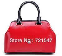 Famous brand High-grade Genuine ladies leather handbag,Fashion color  bag,The new 2013