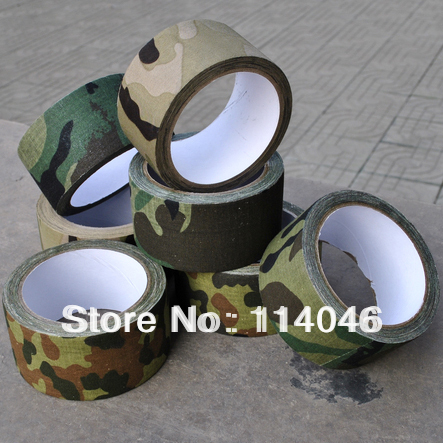 Free shipping 10M mossy oak cotton adhesive tape, camo camouflage fabric tape for outdoor hunting, 4 colors(China (Mainland))
