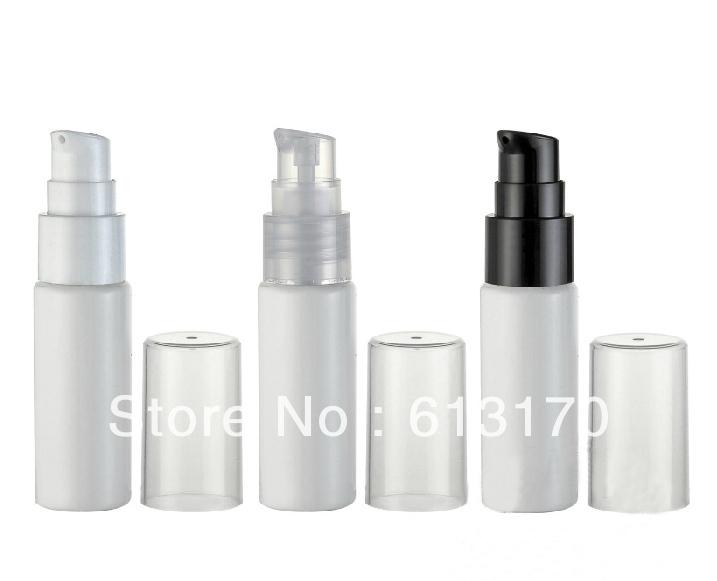 20ml plastic press pump emulsion bottle pet bottle lotion bottle wholesale/retail Free shipping RY-08 white(China (Mainland))