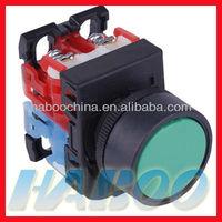 dia.22mm fuji similar AR22F5R flat head on off auto lock push button switch 1NO+1NC/2NO/2NC factory directly shipping free