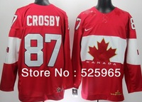 Hot Sale!Newest  Men's Cheap 2014 Winter Olympic Team Canada #87 Sidney Crosby Red  Ice Hockey Jerseys Custom China Size 48-56