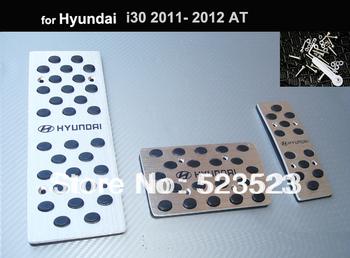 Free Ship for  Hyundai i30 2011 12 AT non-slip Foot Pedal+Brake+Rest Pedal - Aluminium Alloy 3pcs