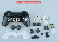 Free shipping 10PCS/lot Shell Case For PS3 Wireless Controller Black/white Contain conductive adhesive