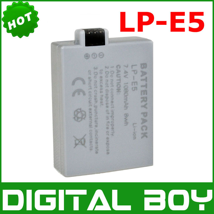 [Digital boy] LP-E5 LPE5 7.4V 1080mAh camera Battery for Canon EOS 450D / 1000D / 500D Free-ship(China (Mainland))