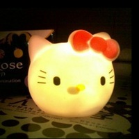 Free Shipping 3pcs/lot Colorful kt cat head small night light