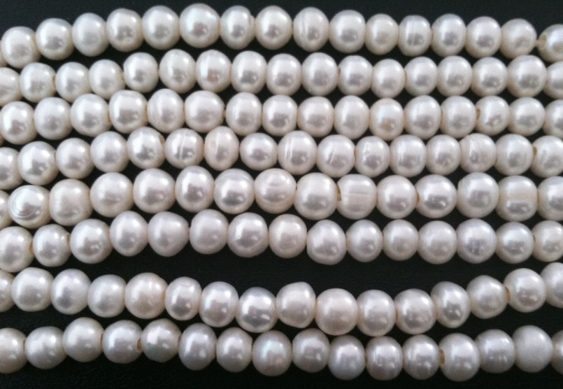 2013 New -10 mm Natural Cultured 3mm big hole Freshwater White Round Pearl Craft Beads A grade 250pcs/lot Free Shipping(China (Mainland))