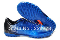 brand name soccer shoes 2013 new style MV IX TF Outdoor wedge sneakers shoes Blue free shipping