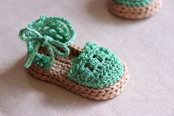 Crochet Pattern Baby Girl Sandals : Crochet Baby Girl Sandals Free Pattern