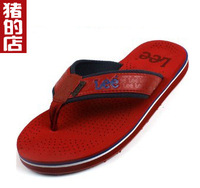 Summer male flip flops shoes plus size casual platform 45 wear-resistant clip slippers