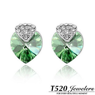 T520 earring female crystal stud earring fashion anti-allergic(China (Mainland))