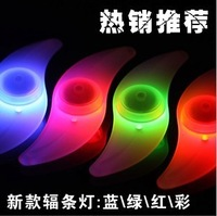 4 1 spoke light bicycle wind fire wheels mountain bike rear light silica gel lamp spoke light decoration lamp