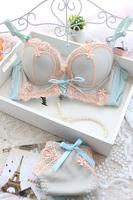 Free shipping! Thickening water bag massage beads sexy lace push up underwear adjustment  women's bra set