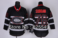 Free Shipping,Cheap Wholesale Ice Hockey Jersey,Montreal  #76 P.K. Subban Jerseys,Embroidery logos,Size 48-56,Mix order