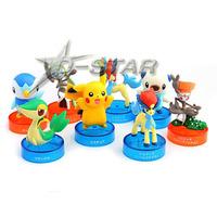 Free Shipping 8pcs Cute Mini Brand New Colorful Pokemon Anime Solid Set PVC Figures Anime Model Collection Toy (8pcs per set)