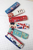 .  travel England Tin pens child pencil case . Tin storgae box.Elegance Series stationery of London.