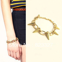 Fashion vintage e0015 accessories fashion metal bracelet male women's rivet punk bracelet 20g
