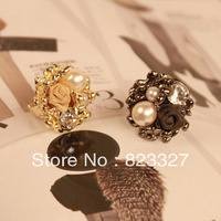 433 pearl open ring finger ring female ring vintage lovers accessories male