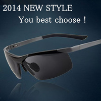 2012 6806 aluminum sunglasses magnesium polarized sunglasses driver glasses