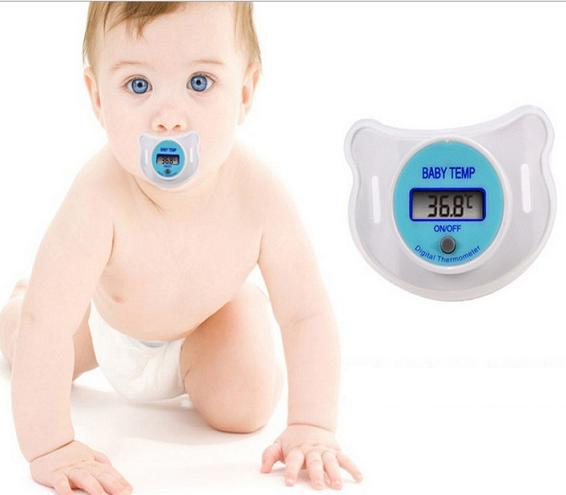 Baby Pacifier digital thermometer, nipple thermometer free shipping(China (Mainland))