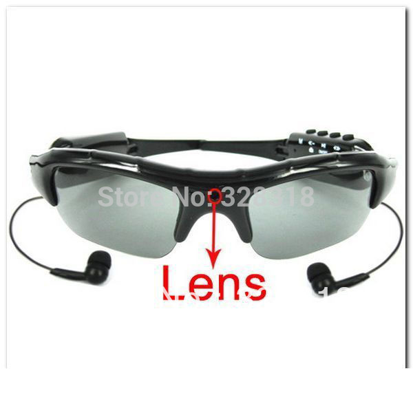 Fashion Sexy Video Glasses Sunglasses DVR mp3 player hidden DV Recorder Camera with TF card slot(China (Mainland))