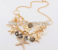 2013 Free Shipping Hot-Sale Metal Necklace With Many Ocean Animals As Decorations Jewelry Wholesale And Retail N123