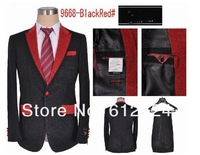 Free shipping cheap patchwork party men suits five colors size M-XXXL  wholesale/retail