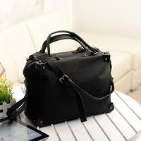 2013 women's handbag summer new arrival fashion casual rivet vintage bag handbag messenger bag