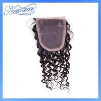 lace closure brazilian virgin hair deep weave curls style natural off black or dark brown DHL fast s