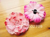 2013 New Luxury Artificial silk flower women ladies girls and kids baby hair clip hair flowers