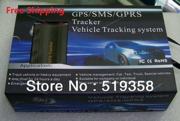 Free shipping car GPS tracker Global l Real Time   Control GSM Alarm  Anti-theft/car alarm TK 103 GSM SMS GPRS PC&web-based