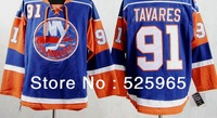 Hot Sale!Cheap High quality hockey jerseys NEW York Islanders 91 TAVRES blue nhl jersey discount from china