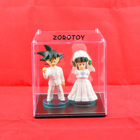 Free Shipping 5sets/lot New Japan Anime Dragon Ball Goku ChiChi Wedding PVC Figure Toys 8cm set of 2 DBFG040
