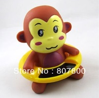 Factory Sale 30pcs/lot  Monkey Design Novelty Items Retail Baby Bath Thermometer Cartoon Swimming Circle Waterproof Thermometer